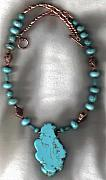 Animals Jewelry Originals - TQ Magnesite Regalia Necklace by White Buffalo