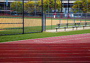 Track And Baseball Diamond Print by Inti St. Clair
