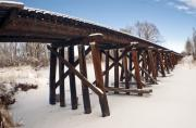 Train Tracks Photo Originals - Tracks After The Snow Storm by James Steele