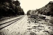 Railroad Ties Posters - Tracks and Timber Poster by Tony Grider
