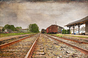 Abandoned Train Prints - Tracks by the Station Print by Paul Ward