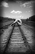 "\\\""photo-manipulation\\\\\\\"" Acrylic Prints - Tracks Acrylic Print by Chance Manart"