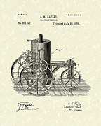 Traction Engine 1884 Patent Art Print by Prior Art Design