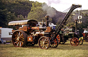 Davit Posters - Traction engine with crane Poster by Rod Jones