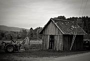 Shed Photo Framed Prints - Tractor and Shed Framed Print by Mandy Wiltse
