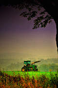 Farm Scene Photos - Tractor Haze by Emily Stauring