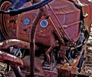 Truck Digital Art Originals - Tractor Parts by Michael Thomas