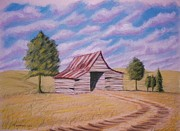 Farm Pastels - Tractor Shed by Stacy Bottoms