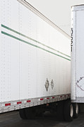 Receiving Framed Prints - Tractor Trailers Parked Close to Each Other Framed Print by Jetta Productions, Inc