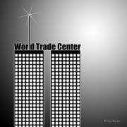 Twin Towers Trade Center Digital Art Metal Prints - Trade Center Metal Print by Cory Bucher