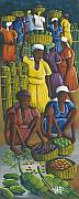 Baskets Painting Posters - Trading Ladies Poster by John Paul Joseph