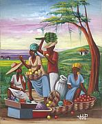 Haiti Paintings - Trading Post by John Paul Joseph