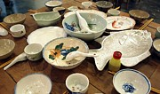 Wooden Bowls Art - Traditional Chinese Dinner Setting by Yali Shi