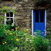 Entrance Door Framed Prints - Traditional Cottage, Co Cork Framed Print by The Irish Image Collection 