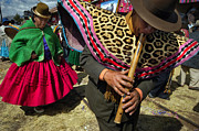 Indigenous Prints - Traditional Dance of the Bolivian highlands. Print by Eric Bauer
