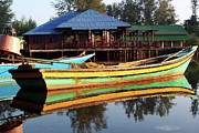 Boat Shed Prints - Traditional Fishing Boat In Tumpat, Kelantan Print by Zuraisham