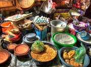 Baskets Photos - Traditional Grocery Shop by Charuhas Images