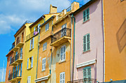 St Tropez Posters - Traditional Houses Poster by John Harper
