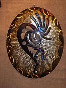 Player Sculpture Originals - Traditional Kokopeli Oval by Jason  Krob