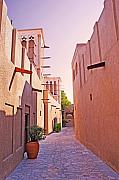 Traditional Middle Eastern Street In Dubai Print by Chris Smith