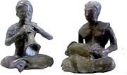 Musicians Sculpture Originals - Traditional Musicians by Nanda Kumar