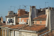 Rooftop Framed Prints - Traditional red roofs in the La Plaine district of Marseille Framed Print by Sami Sarkis