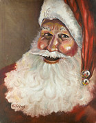 Santa Claus Paintings - Traditional Santa by Sheila Kinsey
