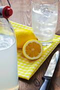 Glass Bottle Prints - Traditional still lemonade Print by Richard Thomas