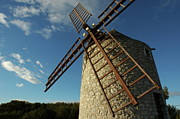 France Doors Framed Prints - Traditional stone windmill in Les Pennes-Mirabeau Framed Print by Sami Sarkis