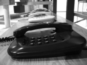 Traditional Telephones Print by Yali Shi