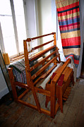 Black Art Tapestries - Textiles Prints - Traditional Weavers Loom Print by LeeAnn McLaneGoetz McLaneGoetzStudioLLCcom