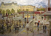 Trafalgar Paintings - Trafalgar Square by Arlon Rosenoff