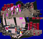 Traffic In The Street Of Tulip 3 Print by Navo Art