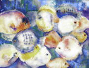 Ocean Creatures Prints - Traffic Jam Print by Arline Wagner