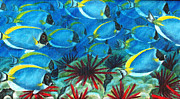 Fish Underwater Paintings - Traffic Jam by Jennifer Belote