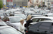 Phoning Prints - Traffic Jam, Moscow Print by Ria Novosti
