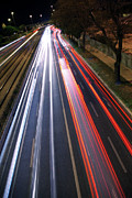 Tail Light Photos - Traffic Lights by Carlos Caetano