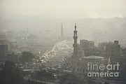 City Streets Framed Prints - Traffic Pollution, Cairo, Egypt Framed Print by Bernard Wolff