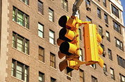 Manhattan Photos - Traffic Signal by Keith McInnes Photography