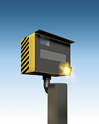 Police Traffic Control Metal Prints - Traffic Speed Camera Metal Print by Victor Habbick Visions
