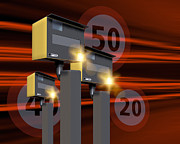 Police Traffic Control Metal Prints - Traffic Speed Cameras Metal Print by Victor Habbick Visions