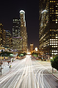 Development Of Life Photos - Traffic Trails On Street At Night by Eric Lo