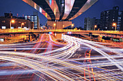 Long Exposure Art - Traffic Trails by Y2-hiro