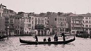 Luis And Paula Lopez Prints - Traghetto Venice Print by Luis and Paula Lopez
