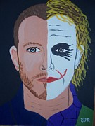 Outsider Art Paintings - Tragic Jokerman by Eamon Reilly