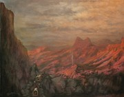 Mountaintop Paintings - Trail West by Tom Shropshire