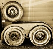 Wheels Art - Trailer Tires in Monochrome by Emilio Lovisa