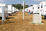 Trailers Photos - Trailers Outside Baker Louisiana by Everett