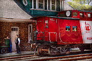 Chatting Photo Posters - Train - Caboose - End of the line Poster by Mike Savad