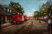 Train Yard Posters - Train - Caboose - Tickets Please Poster by Mike Savad